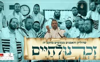 "Srulik Raizman And Artists Beg Hashem ""Zochreinu Lechaim"""