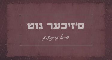"""S'Zicher Git"": Debut Single By Feivel Greenberg"