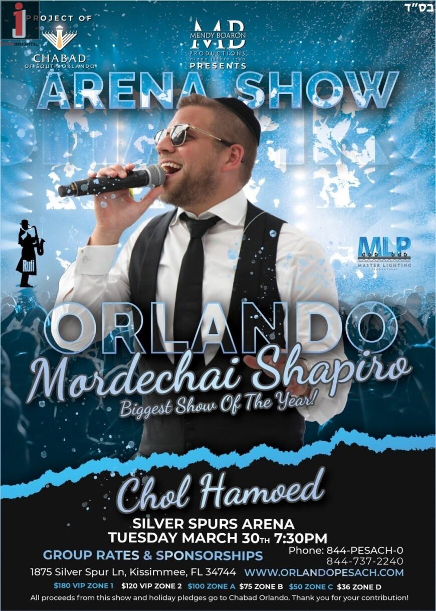 Pesach Concert – Mordechai Shapiro!