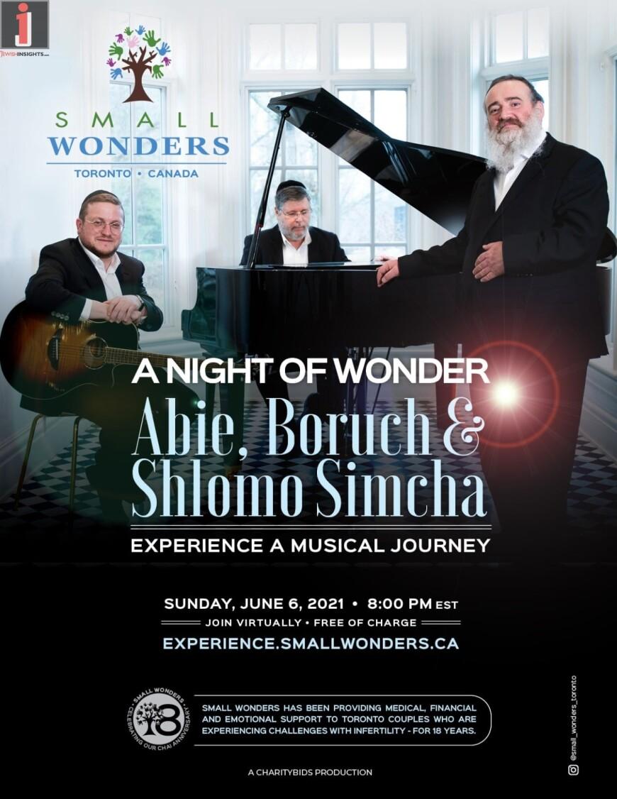 A Night of Wonder by Small Wonders: Abie, Baruch & Shlomo Simcha